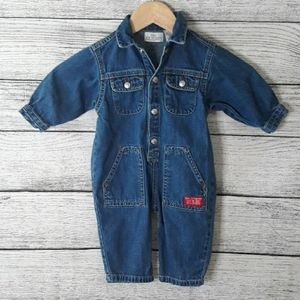 Baby Guess Jean Jumpsuit Size 6 - 9 months
